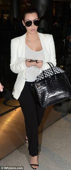 Kim Kardashian + White Blazer