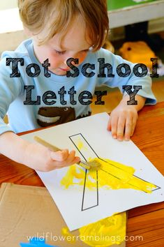 Tot School Printables Letter Y is for Yo-yo from Wildflower Ramblings #totschool