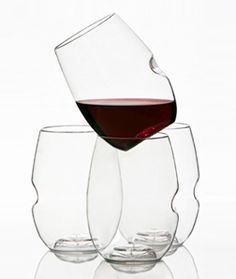 The perfect wine glass for the clutz-y wine lover....