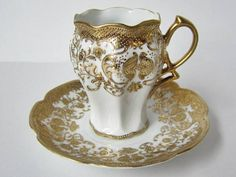 A masculine way to have tea... Old Noritake circa 1892