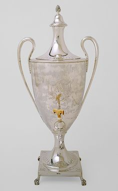 Hot-water urn, 1791 -   Paul Revere, Jr. (American, 1734–1818), Maker -   Made in Boston -   Silver, ivory