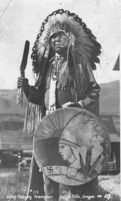 Chief Tommy Thompson at Celilo Falls, Oregon by OSU Special Collections & Archives : Commons, via Flickr