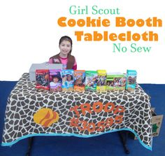 scout idea, scout daisi, cooki booth, girlscout, girl scout table cloth, girl scout cookie booth, booth tabl, cooki time, daisi browni