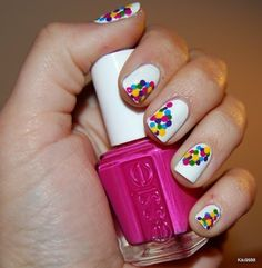 Everyone, I just got some amazing brand name purses,shoes,jewellery and a nice dress from here for CHEAP! If you buy, enter code:atPinterest to save http://www.superspringsales.com -   Confetti Nails :) #Nails