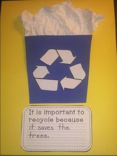 Recycling Craftivity, Graphic Organizers, and Writing Papers
