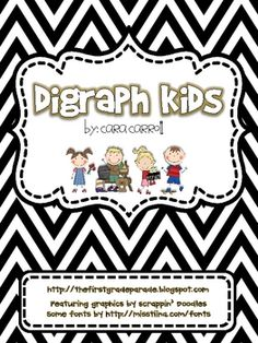 Digraph kids were created to help visual learners...and everyone in between...grasp the concept of digraphs and apply their knowledge to reading