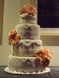 Sugarmania - Decoracion de Tortas: Torta de bodas  -  paso a paso  (parte I)