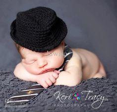 Crochet Hat Newborn Baby Photography Prop Crochet Baby Hat Jazz Cap