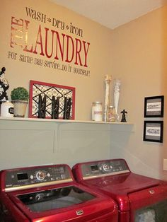 pictures of laundry rooms | Laundry Room Decorations (on NO budget)