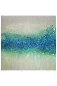 "Neptune Original Hand-Painted Large Art on Canvas - 40"" x 40"""