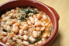 White Bean Soup with Spinach and Leeks