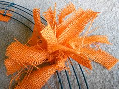 "Six Sisters' Stuff: Halloween Burlap Rag Wreath and Bow Tutorial :: Wanted mine to look more full so I actually ended up using 3 yrds of burlap on a 18"" frame...took way more than 2 hrs, but it looks just like the one from Etsy I have pinned on my Love Autumn board!"