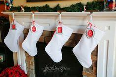 Free Christmas Stocking pattern on Craftaholics Anonymous®