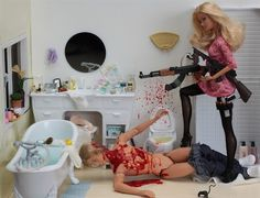 http://dead--barbie.tumblr.com/ Weird barbie