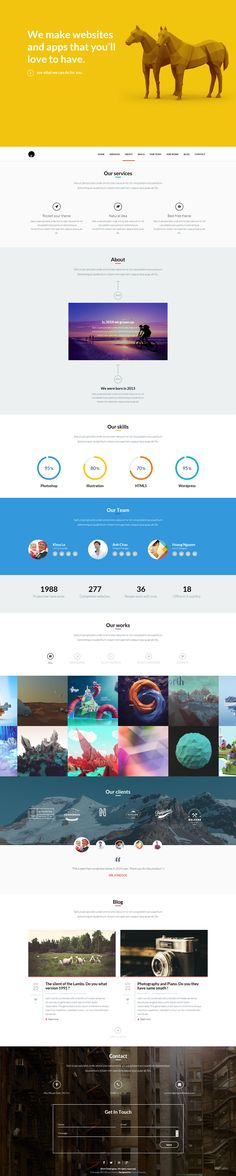 OneEngine - Free Multi-Purpose One Page WordPress Theme