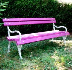 iron bench, park bench