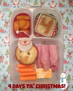 Lunch Made Easy: Simple School EasyLunchbox for Kids {4 Days Til' Christmas!}  Gluten, Nut, & Egg Free with Dairy Free Notes on the link
