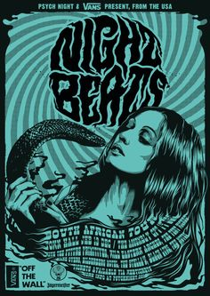 Psych Night & Vans Present: NIGHT BEATS SA TOUR by One Horse Town Illustration Studio, via Behance