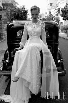 vintage Hollywood wedding dress