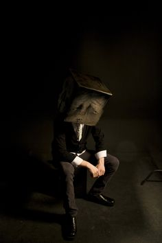cardboard characters. [the boxman] by trevor Nicholls, via Behance