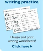 Print writing sheets