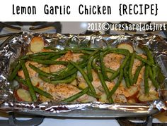 This is my FAVORITE recipe. I cook it {at least} once a week! Lemon Garlic Chicken {Recipe}