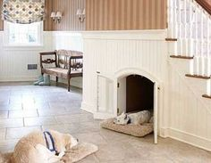 I love this understairs bed  Modern Cat and Dog Beds, Creative Pet Furniture Design Ideas