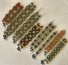 "Linda's Crafty Inspirations: Playing with my beads...""Lace Flowers Bracelet"" experiments"