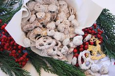 'Traditional' & Nutella Yuppy (or Puppy) Chow ... such a yummy gift idea.
