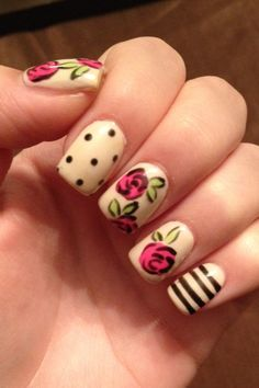 #Colorful #spring #nails