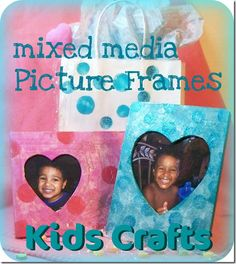 Mixed media picture frames