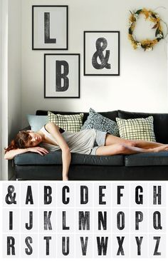 Printable letters by blackliststudioprints