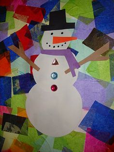 My Shae Noel - Home of Learn and Grow Designs: Snowman Collage Art Project