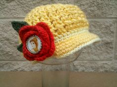 Belle Crochet Newsboy Hat