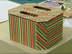 Vida com Arte | Caixa para Esmalte em Cartonagem Projetada por Alice Yoz...
