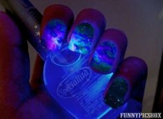 Blacklight nail polish