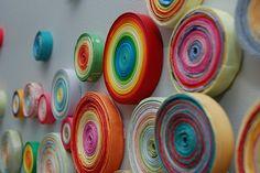 Paper Circle Art, Kandinsky - early finisher collaborative art piece...