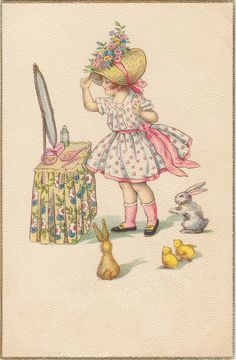 putting on her easter bonnet