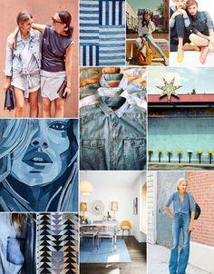 denim inspiration board | camille styles