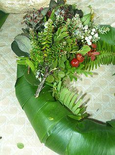 Hawaiian style Christmas wreath.