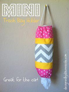 car, idea, craft, mini quilts tutorials, mini trash, minis, diy, trash bag holder, bags
