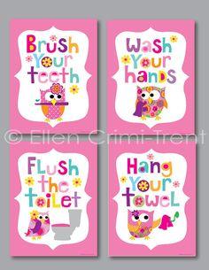 cute idea for a girls' bathroom