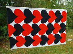 Very large and clean vintage Maija Isola designed Marimekko fabric panel from 1968.