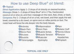 How to use Deep Blue oil blend | Where to buy essential oils: www.thepaleomama.com/essential-oils
