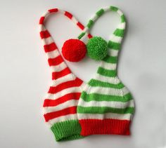 Christmas hat kids Christmas knitted hat Santa by TreMelarance