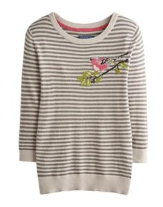 Oh yes. On Friday at #BritMumsLive I'll be wearing a bullfinch -- the Joules Womens Intarsia Jumper, Bullfinch Neutral Stripe. Joules is generously dressing Susanna and I. What are you wearing on the first day?
