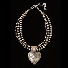 Three Strand Beads and Stamped Heart by Rocki Gorman