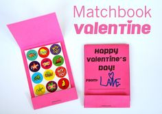 Make Matchbook Valentine Cards (Free Printable)
