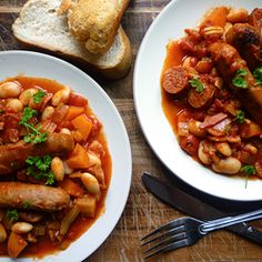 Sausage, Bean & Vegetable Casserole reduc weight, sausag, bean, weight loss, simpl weight, loss recip, casserol recip, casserole recipes, famili favorit