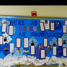 Bulletin board-simile poems using winter weather words!